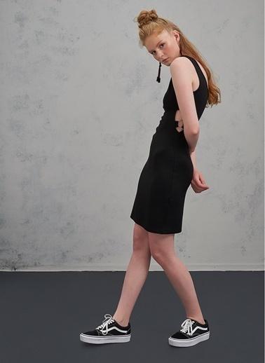Pi π Halka Detaylı Elbise Siyah